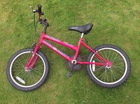 Child's Pink Bike - 45cm Wheels