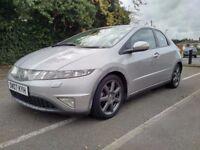 Diesel 2007 Honda Civic 2.2 EX I-CTDI 5 Door Sat Nav Rear Parking Sensor....