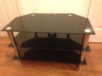 Black glass TV stand **REDUCED**