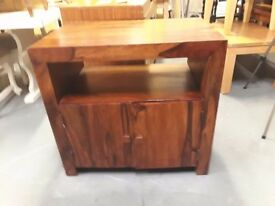 Rosewood media unit, (80 cm x 50 cm x 75 cm high). Delivery can be arranged if required