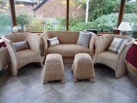 5 Piece Conservatory or Sunroom Rattan Furniture Suite