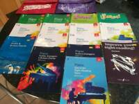 Selection of ABRSM piano books, Grade 1-4 plus 2 music bags