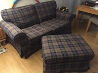 Ikea Ektorp 2 seater sofa, armchair and footstool