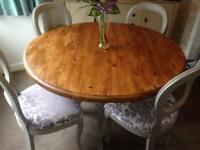 Up Cycled Dining Table & 4 Chairs