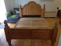 Chunky Double Pine Bed