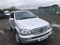 Mercedes Benz ML 270 cdi 2002 year breaking spare parts available