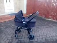 Graco evo pram and car seat bundle for sale