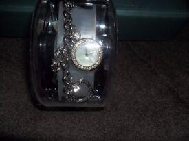 New Ladies Charm Bracelet Watch