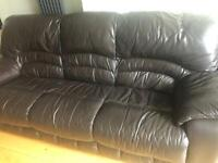 Sofa with electric recliner/ Dfs