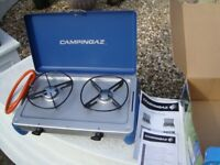 CAMPINGAZ CALOR GAS COOKER BRAND NEW IN BOX WITH INSTRUCTIONS BOOKS COST £60 BARGAIN ONLY £35