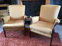 Pair of Vintage/ Retro Parker Knoll Armchairs