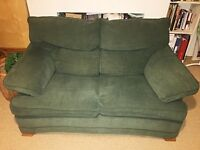 Green 2/3 Seater Sofa and matching Armchair