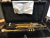 B flat Yamaha trumpet YTR 4335 G inc hard case and mouthpieces
