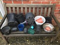 Assorted plant pots - plastic