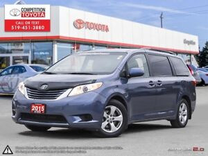 2015 Toyota Sienna LE 8 Passenger Toyota Certified, One Owner...