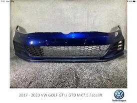 2017 - 20 Volkswagen VW GOLF GTI GTD MK7.5 - FRONT BUMPER NEARLY COMPLETE (#L2)