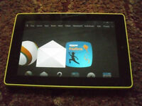 Limited Edition Amazon Yellow Kindle Fire HD 7 Inch Screen (4th Generation) 8 GIG