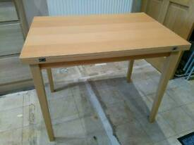 IKEA extending dining table and 4 chairs