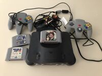 N64 Console, Games and 2 Controllers