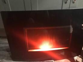Large electric wall mounted fire