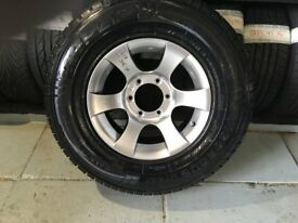 ALLOYS X 4 OF 15 INCH 4X4 6 STUD FITMENT PCD 139.7 MIL FULLY POWDERCOATED INA STUNNING SHADOW/CHROME