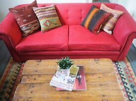 Bespoke Chesterfield Red Sofa