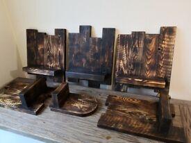 Handmade Bespoke Wall Shelf 100% RECYCLED Rustic Wood Unique Design Burn Finnish