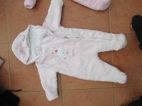 Girls Winter Fleece babygro Coats/Jackets