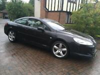 STUNNING TOP OF THE RANGE PEUGUEOT 407 COUPE 3.0 V6 MANUAL VERY LOW MILES 1 YEAR MOT PX SWAP