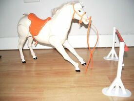Barbie Horse (white) and single Jump