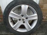 peugeot alloy wheel with legal tyre