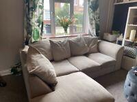 Beige L Shape Sofa
