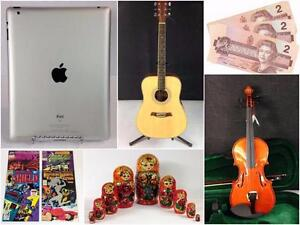 Furniture, Coins, Guitar, Violin, Ipad, Comics, Vintage, Collectibles, Art, Christmas, Halloween, Fender, Antiques, Gold