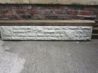 ONE only 6foot long concrete base panel for fencing