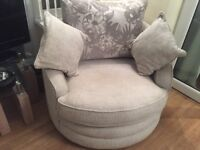 Large tub chair in grey