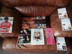 various cookbooks..mostly hardback.popular titles...£10 the lot.