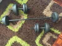 Profitness 24kg Dumb Bell Set Plastic Dumb bell 12 Pairs With 6 Spinlocks 6ft Fitness Weights Rod