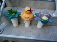 Floating Animal-Shaped Chlorine Dispensers (4% Each)