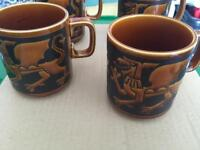 Hornsea England dragon mugs