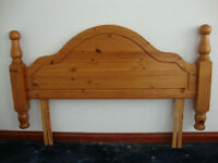 Double Solid Pine Headboard