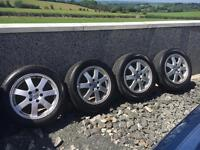 """4 x 16"""" Genuine Volvo Alloys with nearly new Tyres"""