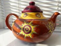 Colourful and unique Artisan Tea Pot from Ecuador
