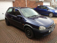 Vauxhall Corsa B 1.2 16v CDX Blue 4 speed Automatic Running but for Spares or Repairs