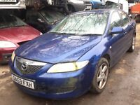 2003 Mazda 6 2.0 TS 5dr blue manual BREAKING FOR SPARES