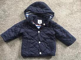 Boys junior j 12-18 months navy blue jacket