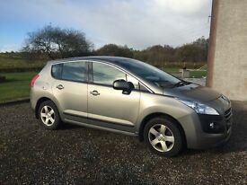 Peugeot 3008 Hdi Sport EGC. Immaculate family car with only 39000 genuine miles. One owner from new.