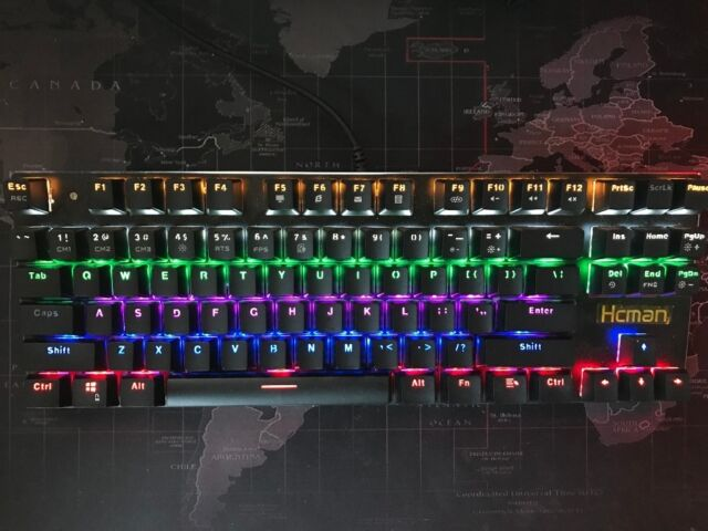 c58fd529c4d HcMan Mechanical Gaming Keyboard RGB, Mouse & RGB Mouse Mat PC Gaming  Components