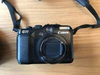 Canon G11 Powershot Camera + leather case & battery charger