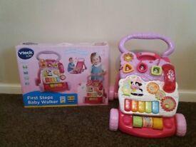 Vtech First Steps Baby Walker Pink- in original box
