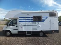 Ci Carioca 656 Motorhome for sale,Six Berth,Rear Seat Belts,Low Mileage,Rear Full Size Bunk Beds